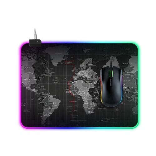 Tappetino per mouse RGB a LED 14 Modalità di illuminazione Mousepad extra large morbido antiscivolo esteso per PC laptop