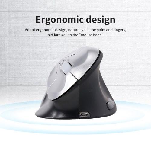 6D Проводная оптическая мышь Вертикальная мышь USB Проводная игровая мышь 6 клавиш Эргономичный дизайн Мышь для портативных ПК Черный + Silver фото