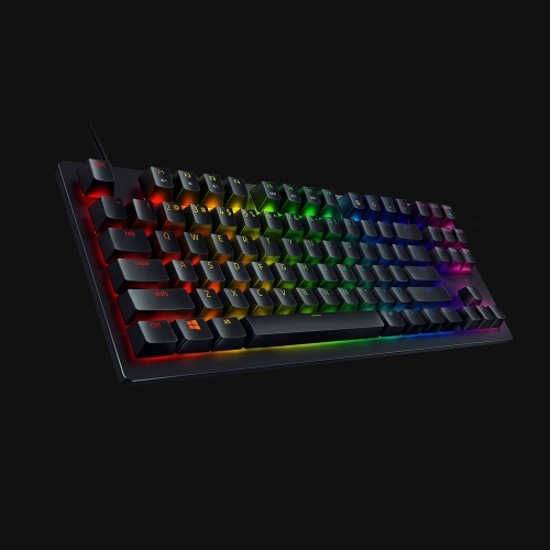 Razer Huntsman Tournament Edition Механическая клавиатура Линейный оптический переключатель Gaming 87 клавиш RGB Подсветка Проводная клавиатура Черный фото