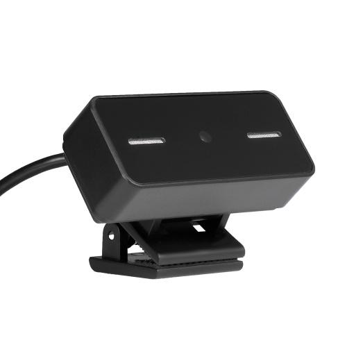 2-мегапиксельная USB-камера высокого разрешения с фиксированной фокусировкой Веб-камера Встроенный микрофон Веб-камера без дисковода для портативных ПК Черный