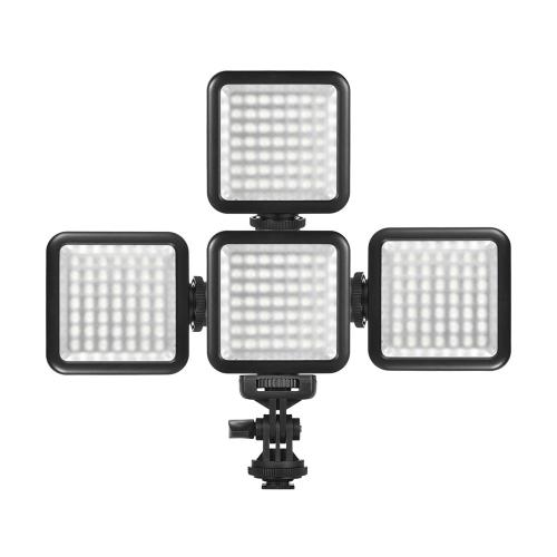 Andoer W49S Mini Dimmbare LED Video Licht Fill Light + mit drehbaren Schuh Mount Adapter
