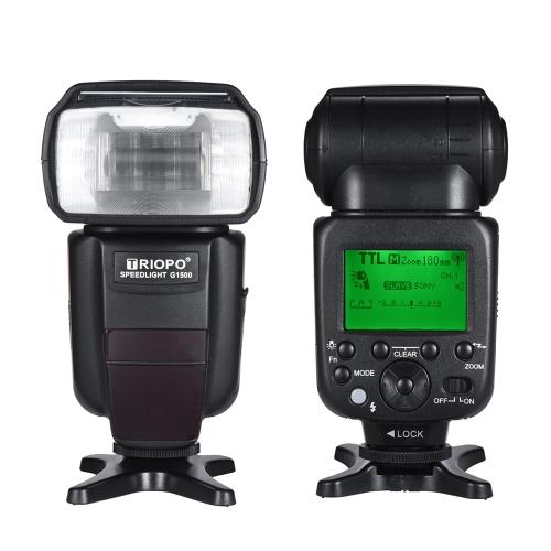 TRIOPO G1500 2.4G HSS 1 / 8000s GN58 TTL Wireless Master Slave Flash Speedlite + Trigger para Sony A77II A7RII A7R A58 A99 ILCE600L