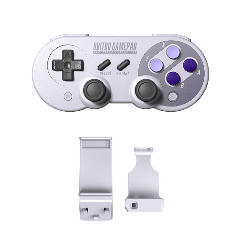 8Bitdo SN30Pro Wireless Game-controller + X Mecha Stretch-fixing Game Handle Holder