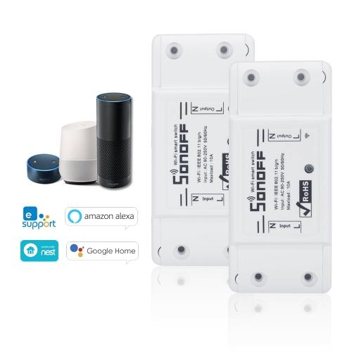 SONOFF Basic Wifi Switch funktioniert mit Alexa für Google Home 2PCS
