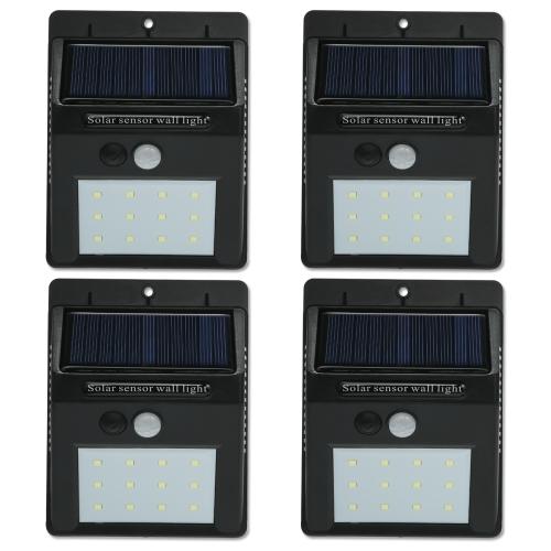 12 LED Solar Sensor wasserdichte Wandleuchten
