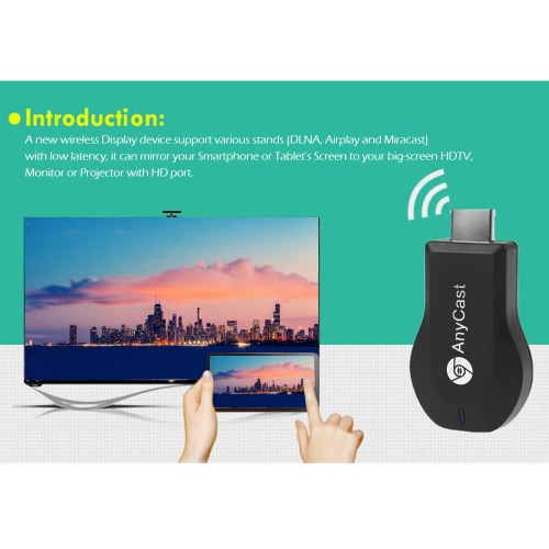 AnyCast M2 Plus Wireless WiFi Display Dongle Receiver 1080P HD Interface TV Stick DLNA Airplay Miracast + DIY Tri Fidget Spinner