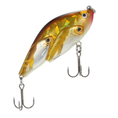 5pcs Group Fish Lures Floating SwimBait Hard Plastic 3d Fish Eye VIB Rattlin thumbnail