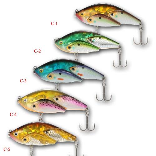 Pesci del gruppo 5pcs mettono in mostra l'Occhio VIB Rattlin di pesce in plastica 3D SwimBait