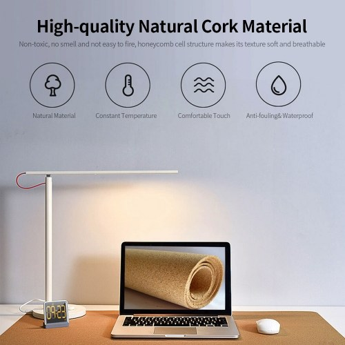 Mouse Pad Natural Cork Texture Desk Mat Waterproof Dustproof Large Size Computer Mouse Pad for Home Office Game Aquarius, TOMTOP  - buy with discount