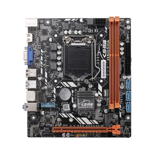 JINGSHA H310C DDR3*2 Motherboard Loaded M.2 Interface Gaming Motherboard M-ATX for LGA1151 6/7/8/9 Series CPU 16GB