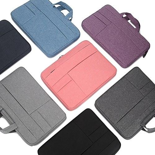 Portable Laptop Bag 14 inch Laptop Case Waterproof Nylon Laptop Bag Briefcase Leisure Business Handbag Pink