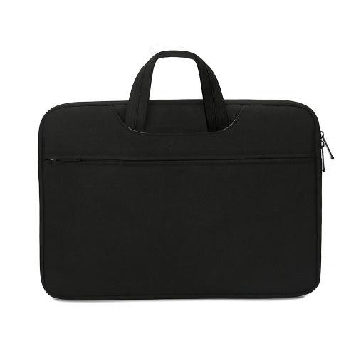 Borsa per laptop multifunzionale Custodia per laptop da 14 pollici Borsa per laptop in nylon impermeabile Borsa per il tempo libero Borsa da lavoro nera