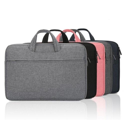 Multifunctional Laptop Bag 14 inch Laptop Case Waterproof Nylon Laptop Bag Briefcase Leisure Business Handbag Black