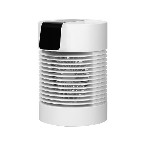 Ventola di raffreddamento ad acqua Ventola di nebulizzazione Umidificatore da tavolo Ventola di tipo C Ventola del condizionatore d'aria Ventola 2 in 1 con 3 velocità regolabili Bianco