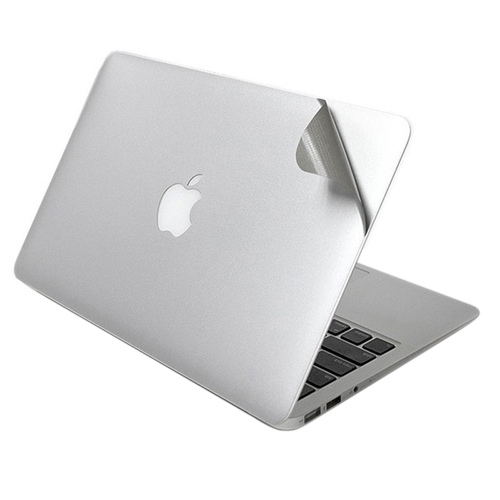 Lention 5 in 1 Ultra Thin Full Body Skin Silver Cover Guard Sticker Set Suit for MacBook Air/Pro/Retina Display 13-inch 13.3