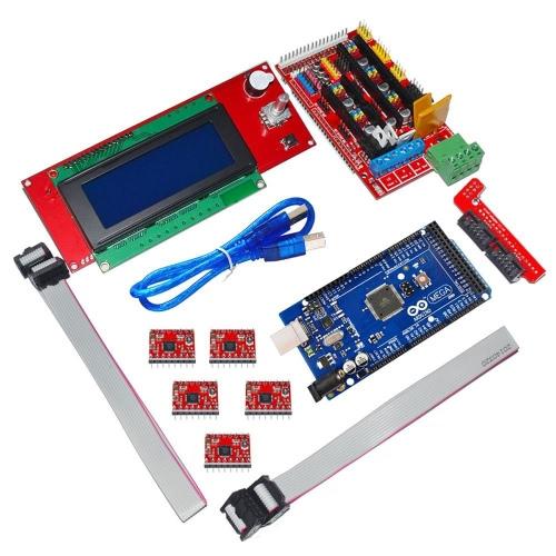 3D Printer Controller RAMPS 1.4 + Mega 2560 R3 + 5 * A4988 + 2004 LCD Controller for Arduino RepRap