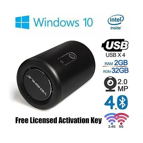 VENSMILE i10 Windows 10 Quad Core Smart TV Box XBMC Media Player Mini PC 2G 32G