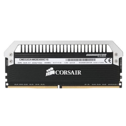 Corsair Dominator Platinum Series DIMM 32 GB (2 x 16 GB) DRAM DDR4 3000MHz C15 RAM Scheda di memoria