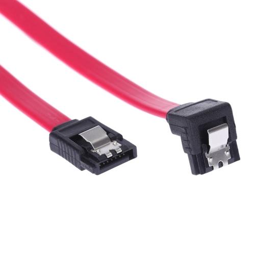 SATA 2.0 de alta velocidade em linha reta / Cord ângulo direito cabo conector de dados com bloqueio trava de encaixe para HDD disco rígido SSD