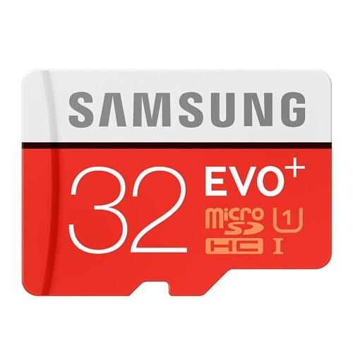 Samsung Memory 32GB EVO Plus MicroSDHC 95MB/s UHS-I (U1) Class 10 TF Flash Memory Card MB-MC32GA/CN High Speed for Phone Tablet Cemara