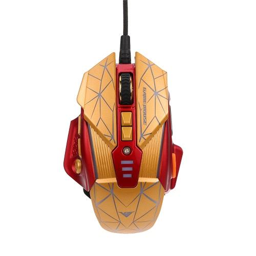 Rajfoo Esport Gaming Mouse Macro ergonômico Botões programáveis 8D Ratos 800-4000DPI Respirando LED Light USB com fio para Gamers Pro