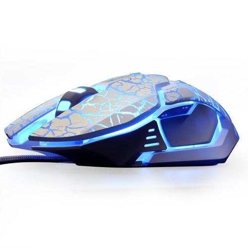 Wired Gaming Mouse EMS639 alta precisão 5 cores backlights Luzes Mice E-3LUE 4000dpi ajustável USB ergonómico jogo de computador