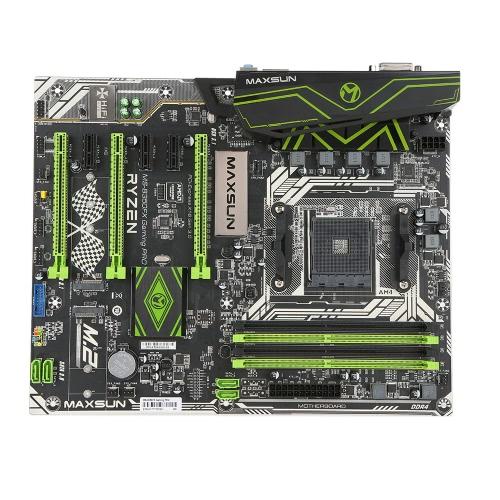 MAXSUN MS-B350FX Gaming PRO dla AMD B350 AM4 Gniazdo ATX Komputer stacjonarny Płyta główna Płyta główna płyty głównej SATA III 6 Gb / s USB 3.1 M.2 DDR4 z lampką LED
