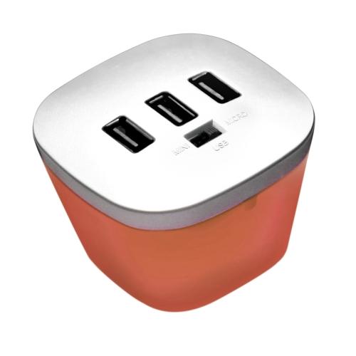 Caricabatteria USB ad alta velocità per porta dati portatile a 3 porte