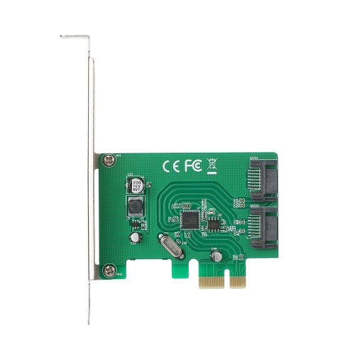 PCI-E para o adaptador de placa PCI Express SATA III 3.0 interno de 2 portas Superspeed 6 Gbps com Chipset ASM1061