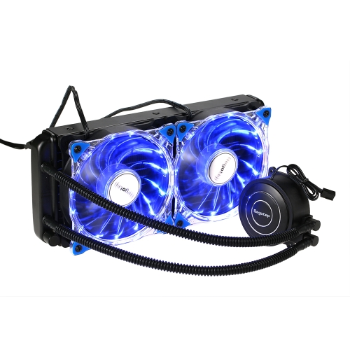 Segotep Liquid Freezer Water Liquid Cooling System CPU Cooler Fluid Dynamic Bearing 120mm Fan with Blue LED Light