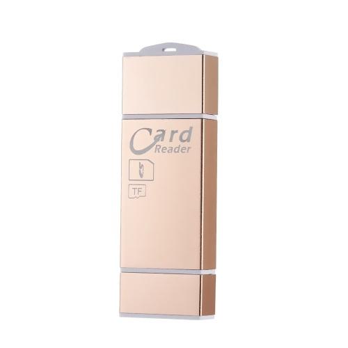 Leitor de cartão TF SD / TF adaptador de leitor de cartão para iPhone / Android / PC