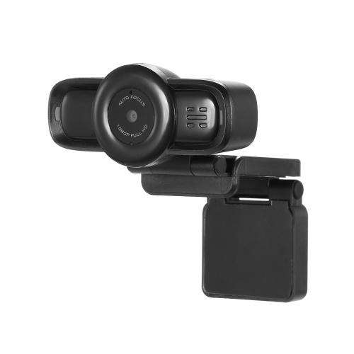 Caméra Web USB Zoom Automatique Full HD 1080 P Caméra Webcam Ordinateur Microphone à annulation de bruit intégré Webcam HD Calling et enregistrement vidéo