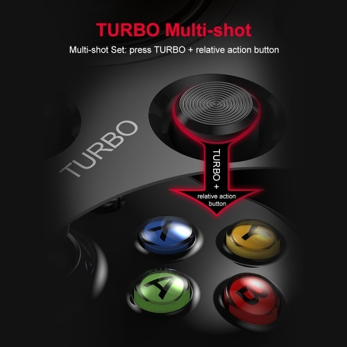 Betop Asura2 Game Controller Wired Gamepad with Joystick for PC Android PS3(Black)