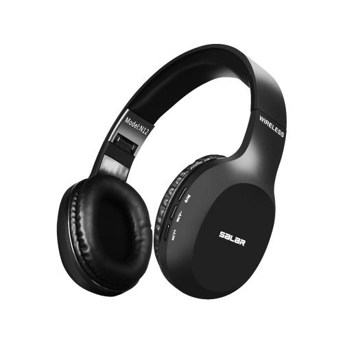 Sômica N12 BT Headset Headset BT4.2 Fone de Ouvido Sem Fio com Microfone para PC Portátil (Preto)