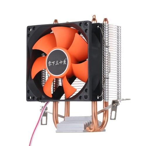 Hydraulic CPU Cooler Heatpipe Fans Quiet Heatsink Radiator for Intel Core AMD Sempron Platform