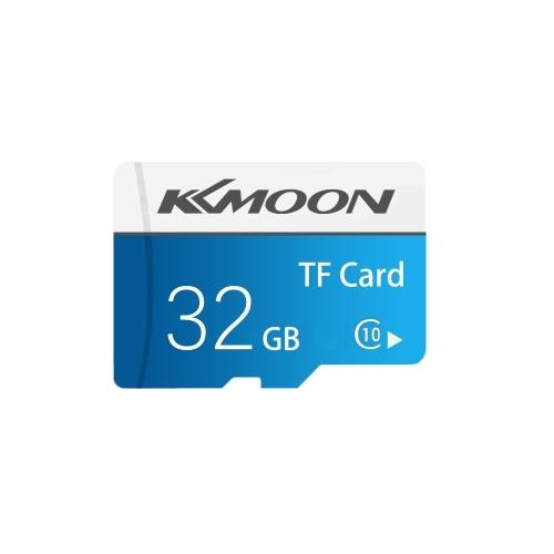 Kkmoon cartão micro sd tf memória flash cartão de armazenamento de dados 32GB classe 10 velocidade rápida (azul)