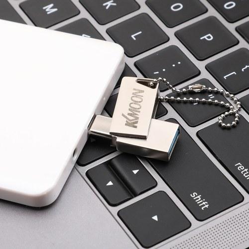 KKmoon USB Flash Drive USB3.0 Type-C Mini portatile U Disco 32GB Pendrives Pen Drive Argento per PC Laptop Phone