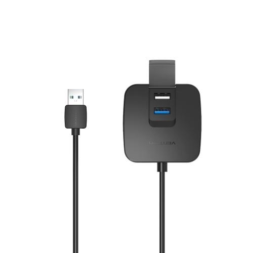 Vention High Speed USB Hub 4-port USB Splitter Hand-Free Design Portable USB Hub USB2.0 3.0 Hub Laptop Converter Multi-interface Extender 0.5m