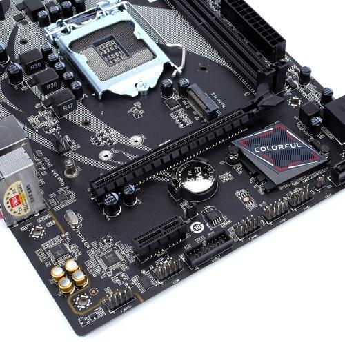 Красочный Battle-Axe B360M-HD PRO V21 Материнская плата Материнская плата Systemboard Multi-Protection LGA1151 Кофе Lake-S Процессор Intel B360 Чипсет VGA DVI HDMI SATA3.0 6 Гбит / с фото