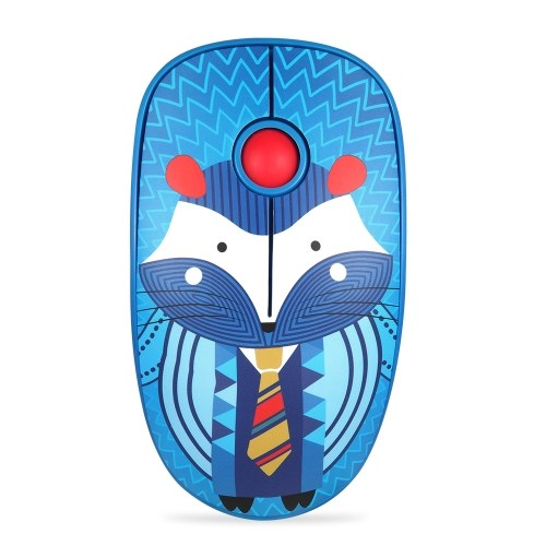 FD V8H 2.4G Mouse muto wireless Plug & Play Mouse slim Tracking ottico Risparmio energetico Rotella di scorrimento liscia per PC laptop (Hedgehog)