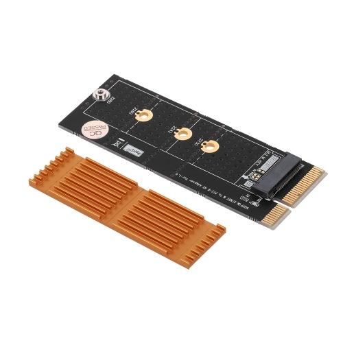 Convertitore da scheda SSD M.2 NVME M chiave a adattatore PCI-E 4X per PC desktop con dissipatore in oro