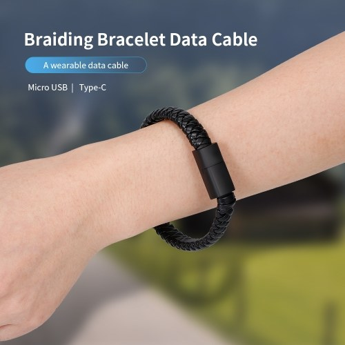 Creative Braiding Bracelet Data Cable Portable Charging Cable Android Data Cable Type-C Interface