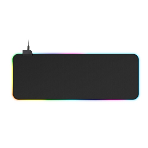 Colorful RGB Luminous Mousepad RGB Backlight Mouse Pad Adjustable Luminescence Modes Non-slip Mouse Pad 800*300*4mm