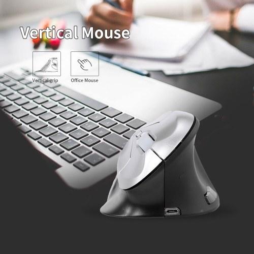 6D Беспроводная оптическая мышь Вертикальная мышь 2,4 ГГц игровая мышь 6 клавиш Эргономичный дизайн Мышь для портативных ПК Черный + Silver фото