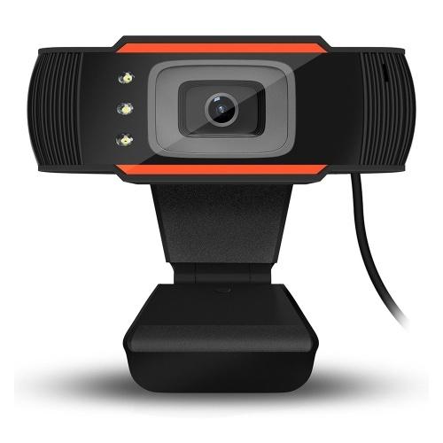 HXSJ A870C3 Webcam USB ad alta definizione 480P con messa a fuoco fissa Fotocamera per computer Microfono fonoassorbente incorporato per PC portatile