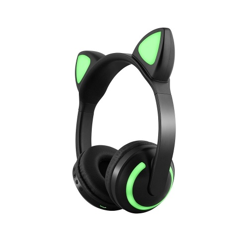 LED Cat Ear ZW-19 Headset RGB 7-Color Lights Noise Cancelling Headphones BT 4.2 Kids Earphone Supports 3.5mm Plug