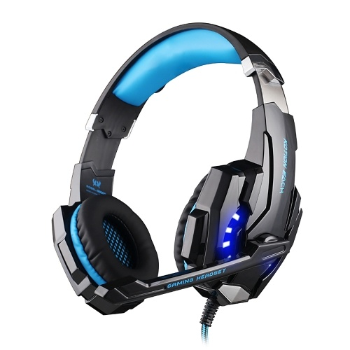 KOTION EACH G9000 3.5mm Noise Reduction Gaming Headset for PC Laptop Smartphone PS4 Switch with Audio Adapter Cable