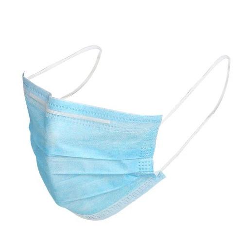 (1 kostenloser Behälter für tragbare Einweg-Gesichtsmasken) Kauf 50 Stück Einweg-Zivilschutzmasken Atmungsaktive staubdichte 3-Lagen-Gesichtsmaske mit Ohrbügel
