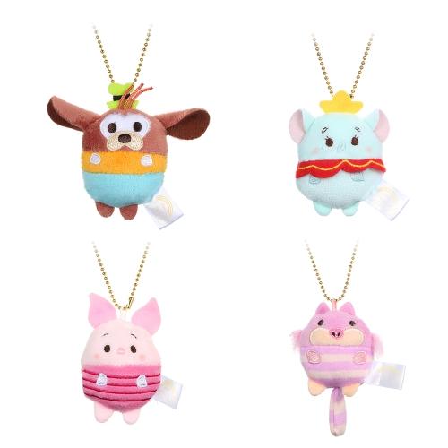 4шт Симпатичные мультфильм медведь Свинья слона игрушки куклы Мини Плюшевые куклы Фаршированные игрушки Дети День рождения Подарок Брелок