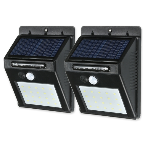 20 LED Solar Sensor Waterproof  Wall Lights